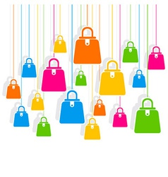 creative colorful shopping bag pattern vector image