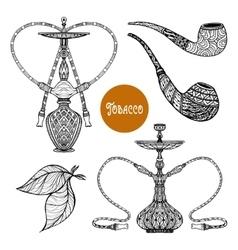 Doodle Smoke Set vector image