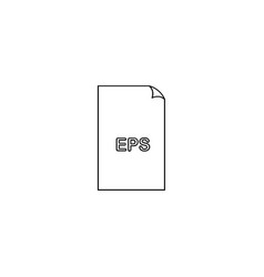 eps file icon vector image vector image