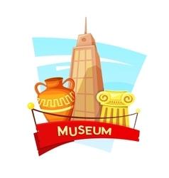 Museum concept design vector image vector image