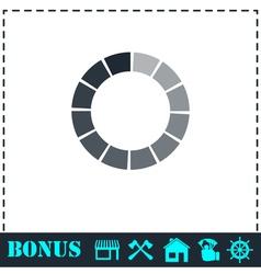 Load bar icon flat vector image