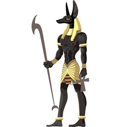 Mighty Great dark Anubis on white vector image