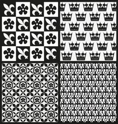 Set of medieval patterns vector image
