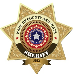 Sheriff badges vector image