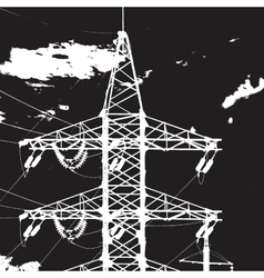 Tower Electric Closeup vector image vector image