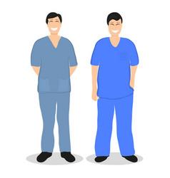 two doctors men flat design vector image