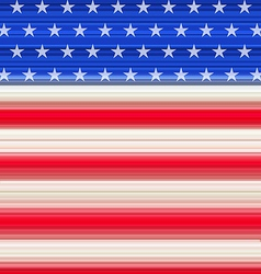 Abstract American Flag for Independence Day vector image vector image