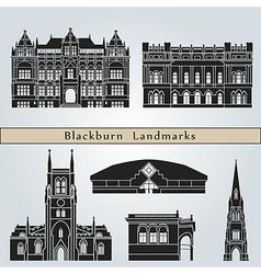 Blackburn landmarks and monuments vector image vector image