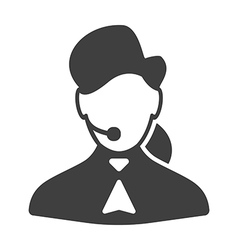 Call center woman icon vector image vector image