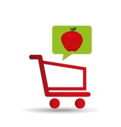 e-shopping fresh apple fruit design vector image vector image