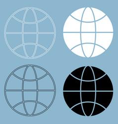 Globe the black and white color icon vector