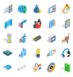 merchant icons set isometric style vector image vector image