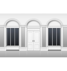 Shop Building with Ftront Glass Windows Showcase vector image