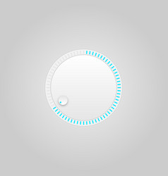 user interface control grey web element circle vector image