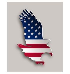 Bold eagle vector image
