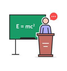 color linear physics teacher vector image