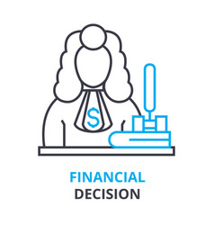 financial decision concept outline icon linear vector image vector image