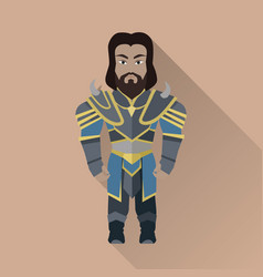 game object of knight vector image vector image