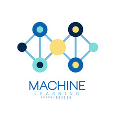 geometric machine learning logo data mining vector image vector image