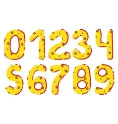 Handwritten Numbers Set vector image vector image
