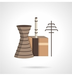 Power plant flat color icon vector image
