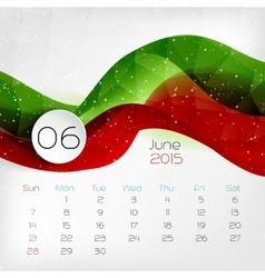 2015 Calendar July vector image