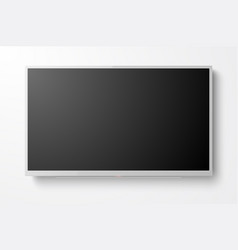 3d realistic white blank tv screen modern vector image