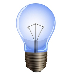 A blue light bulb vector