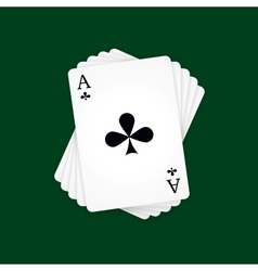Ace of Clubs vector