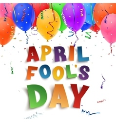 April Fools Day background on white vector image