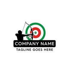 Archery mascot silhouette mascot logo vector