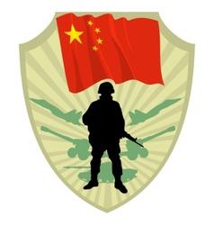 Army of China vector image