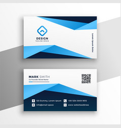 Attractive business card design in blue color vector