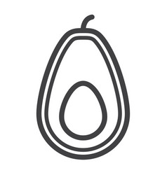 avocado line icon fruit and tropical vector image