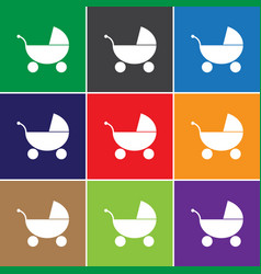 Baby carriage icon sign carriage carriage vector