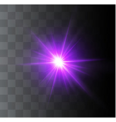 beautiful glowing light vector image