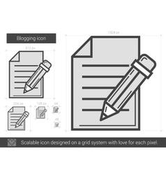 Blogging line icon vector