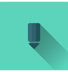 Blue pencil icon flat design vector