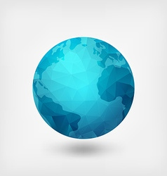 blue polygonal planet vector image