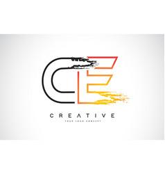Ce creative modern logo design with orange and vector