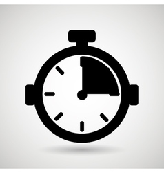 chronometer icon design vector image