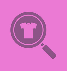 clothes search glyph color icon vector image