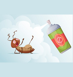cockroach baiting bad insects in living room home vector image