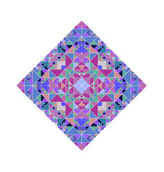 Colorful polygonal isolated ornate triangular vector