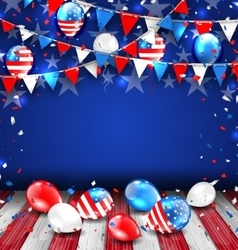 Colorful Template for American Holidays vector image