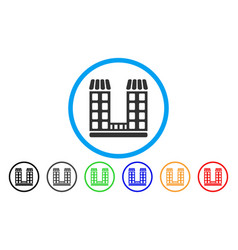 company buildings rounded icon vector image