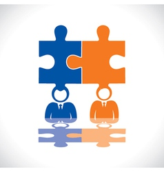connection of two businessmen vector image