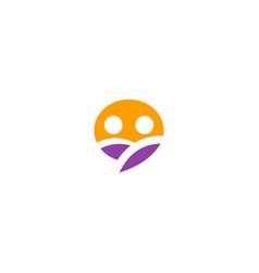 couple people talk bubble logo vector image