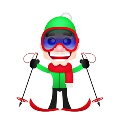cross country skiing vector image
