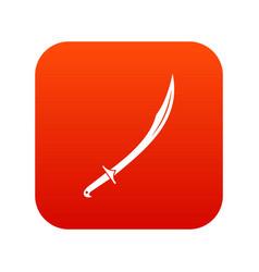 Cutlass icon digital red vector